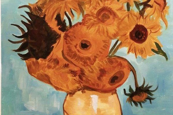 Репродукция на известна картина на Винсент Ван Гог с рамка - 60 лв.